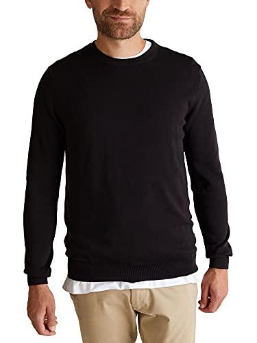 ESPRIT Herren Classic Rundhals Pullover, 001/BLACK-New Version, XL