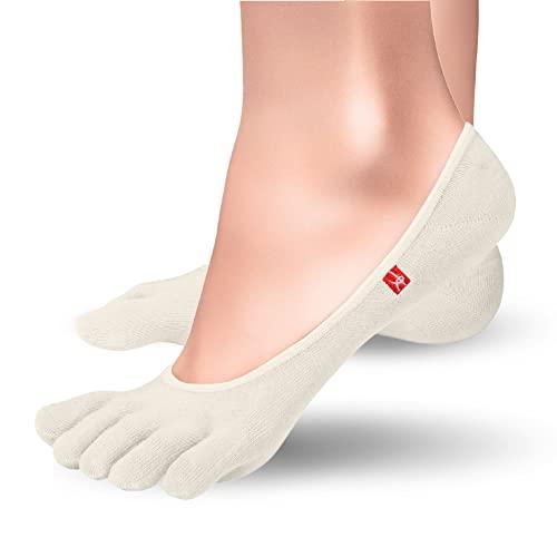 Track & Trail Zero | Socquettes à doigts invisibles pour sport en fibre Coolmax®