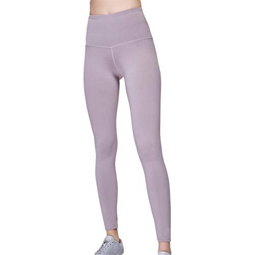 BBLULU Leggings Ladies Fitness Sport Leggings de Cintura Alta Pantalones de Yoga Pantalones Deportivos Elásticos Mallas Deportivas Sin Costuras (1 Unidad) Lila Violeta