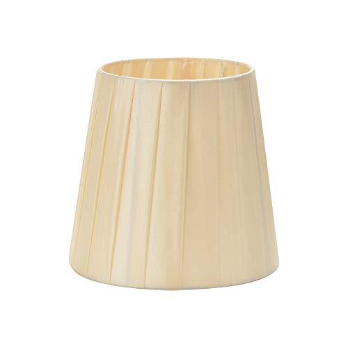 6 Sets von Clip-On-Lampenschirm, Handarbeit, Stoff, Kronleuchter, Wand, Nachttisch, Lampenschirm, Lampenschirm, E27 für Schlafzimmer, Esszimmer, Flur, Wohnzimmer beige