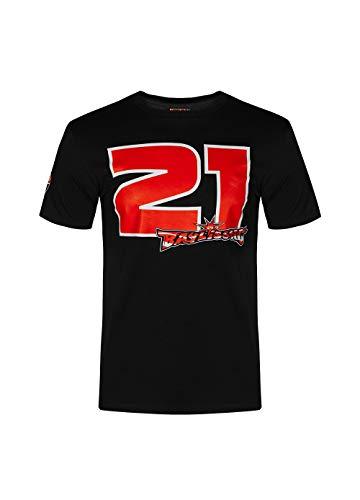Valentino Rossi Colección Troy Bayliss Camiseta, Hombre, Nero/Rosso, L