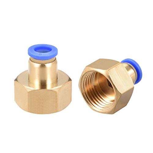 Empuje para conectar el adaptador de conexión de tubo de 8 mm OD x G1 / 2 conector neumático derecho hembra conectar el conector de manguera.