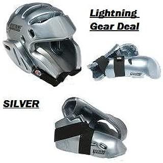 Lightning Silver Karate Sparring Gear Package Deal - Adult Large