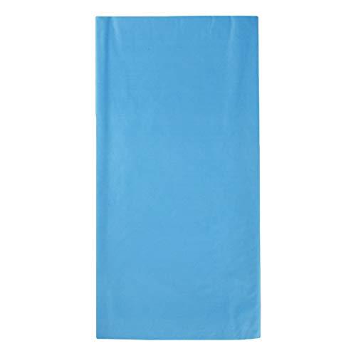 VORCOOL 4pcs Nappe en Plastique Rectangle Table Couvrir Nappe imperméable jetable pour Pique-Nique Banquet fête événement 108 x 54 Pouces (Bleu Ciel)