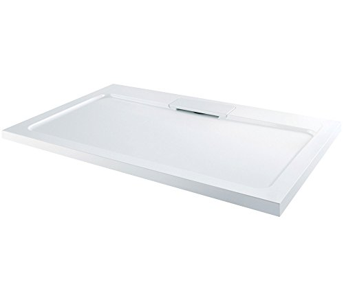 Elton Low Profile Stone Resin Acrylic with Hidden Waste Shower Tray- Rectangle 1700 x 800