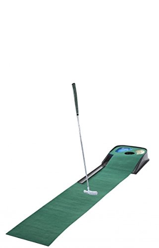 CEBEGO Golf Puttingmatte Complete-Puttingteppich mit Putter & Golfball & Kühlschrankmagnet Golf, Golfgeschenk Indoor-Put-Training Puttingset