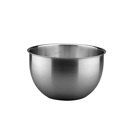 ZHENZEN 304 chrome steel mixing bowl Multifunctional mixing bowl Stainless metal salad bowl High capability Easy to wash Stackable Reduce space for storing (Size : 29.5cm)