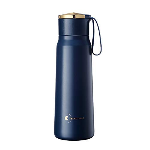 wangYUEQ Cup cupLuxury Stainless Steel Tumbler 380ml Water Bottle Travel Insulated Cup Tumbler Coffee Vacuum Flask Thermocup cup (Capacity : 380ml, Color : Gray (Color : Blue, Size : 380ml)