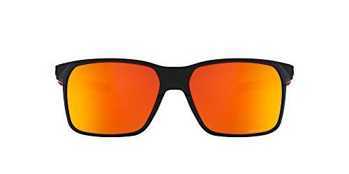 OO9460 Portal X Rectangular Sunglasses , Polished Black/Prizm Ruby Polarized, 59 mm