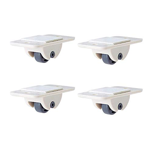DETHN 4 Pcs / 8 Pcs Storage Box Pulley, Adhesive Casters Furniture Castors Wheels Trash Can Self-adhesive Pulley No Noise No Scratches Box Wheels 4 pcs