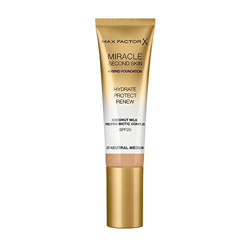 Max Factor Miracle Touch Second Skinbase De Maquillaje, Tono 07, 30 Ml
