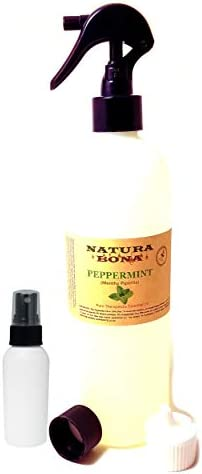Pure Peppermint Essential Oil Spray 17 2 oz Trigger Sprayer Travel Cap Flip Top Dispenser 2oz product image