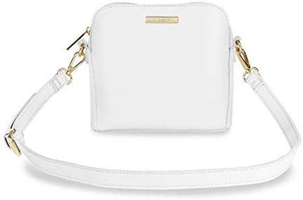 Katie Loxton Bella Box Bag Pure White Women's Faux Leather Shoulder Handbag Purse