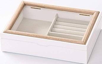 ケーアイ(K-ai) ジュエリー収納 ホワイト サイズ:W22×D16.5×H5.5cm ミア ジュエリー ボックス 161394