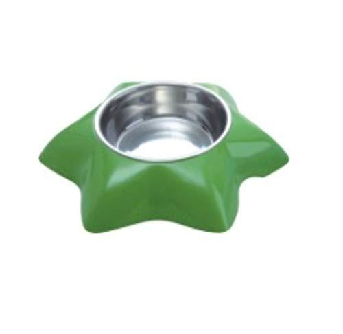 LIUQIAN Cinq étoiles hexagonales en Acier Inoxydable Bol Chien Pet Bowl
