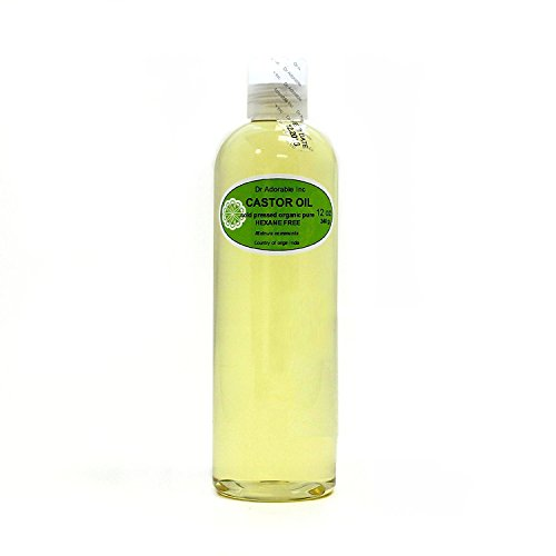 Castor Oil Pure Organic Cold Pressed Virgin by Dr.Adorable 12 Oz