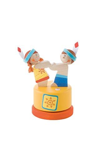 Sevi - 82931 - Petits Indiens - Boîte À Musique Balle - 11 X 16 X 11 Cm