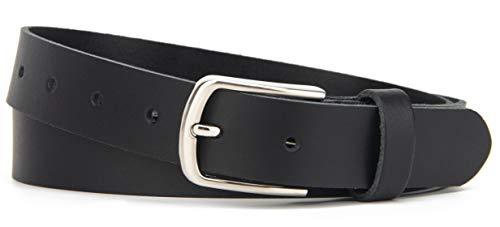 Frentree® Ledergürtel MADE IN GERMANY, Gürtel für Damen und Herren, 3 cm breit, Schwarz