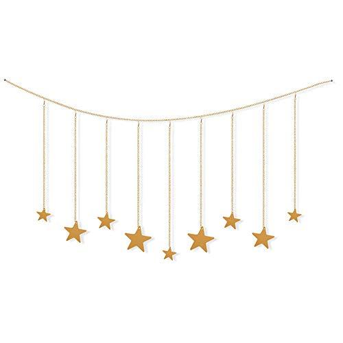 Suprcrne Gold Stern Kette Girlande Wandbehang Bohemian Dekoration Wanddeko Wandschmuck Zimmer Deko