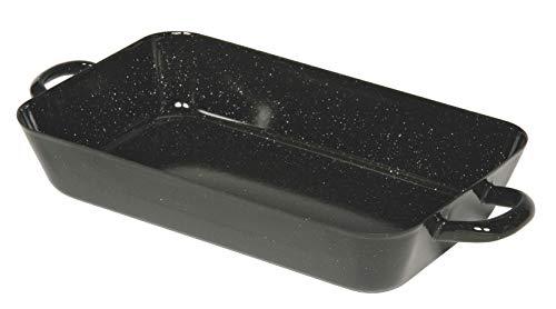 Riess, 0049-022, Bratpfanne 26/17cm, CLASSIC - BACK- UND BRATFORMEN, Maße 26 x 17 cm, Höhe 5,0 cm, Inhalt 1,10 Liter, Emaille, Bräter, schwarz, 0,62 kg, 34 x 17,2 x 5cm