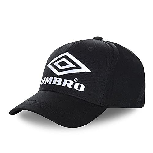 UMBRO - Berretto da baseball da uomo, Nero e bianco LOG15, Taglia Unica