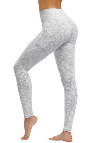 TUNGLUNG High Waist Yoga Pants with Pockets, Tummy Control Yoga Leggings for Women 4 Way Stretch Running Workout Pants