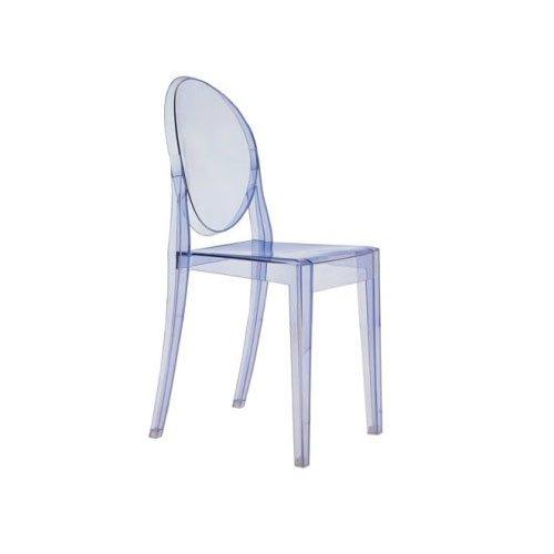 Kartell 4857P2 Stuhl Victoria Ghost blau