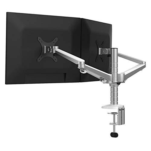 NKLL Soporte de la computadora Soporte De Mesa De Cristal De Doble Líquido De Aleación De Aluminio Ajustable OA-4S con Inclinación Y Rotación 10'-27' para Escritorio (Color : LCD Monitor Arm)