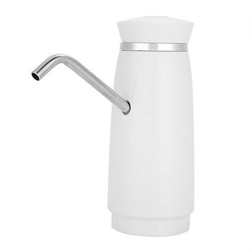 Bomba de botella de agua eléctrica - Bomba de agua potable automática de carga USB portátil(Blanco)