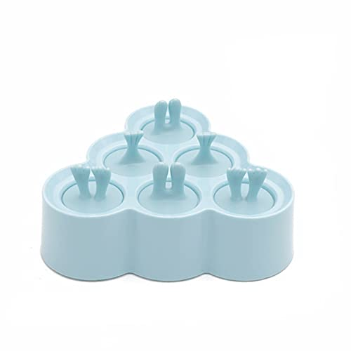 Homemade Diy Ice Cream Mold 6 Cells Ice Cube Molds Summer Popsicle Maker Colorful Bpa Free Silicone Ice Lolly Molds