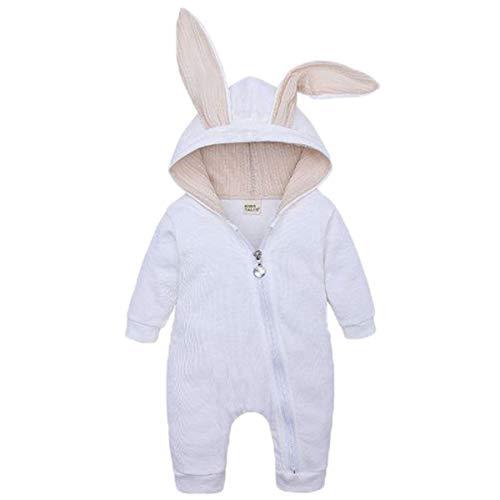 【 うさ耳キュート 】monoii 赤ちゃん 着ぐるみ うさぎ ロンパース あったか ベビー 服 ハロウィン 衣装 ウサギ カバーオール 仮装 コスプレ d467