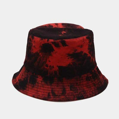 wtnhz Fashion items Trendy tide brand men's double-sided can wear irregular tie-dye fisherman hat
