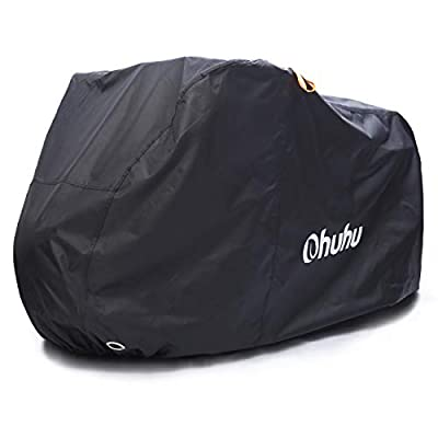 Ohuhu Bike Cover Waterproof XL/XXL for 2 or 3 Bikes Outdoor Storage Windproof Bicycle Covers for Mountain Bike Road Bike (X-Large for 2 Bikes)