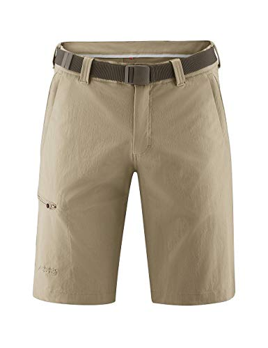 Maier Sports - Bermuda, Pantalon d'extérieur/Pantalon Fonctionnel/Short pour Homme avecceinture bi-élastique, séchage Rapide et imperméable, 50 Braun (teak/780)
