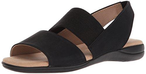 LifeStride Women's Easily Sandal, Black, 6 W US