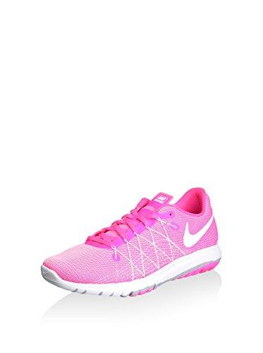Nike Girl's Flex Fury 2 Running Shoes (5.5 Big Kid M, Pink Blast/Wolf Grey/Whit)