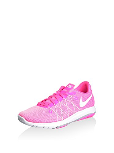 Nike Girl's Flex Fury 2 Running Shoes (7 Big Kid M, Pink Blast/Wolf Grey/Whit)