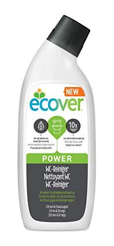 Ecover WC Reiniger Power (750 ml), nachhaltiger Toilettenreiniger mit pflanzenbasierten Inhaltsstoffen, kraftvoller Reiniger und Kalkentferner für die Toilette