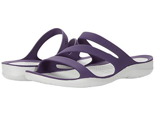 Crocs Womens Swiftwater Slide Sandal, Maulbeere Perlweiß, 37/38 EU