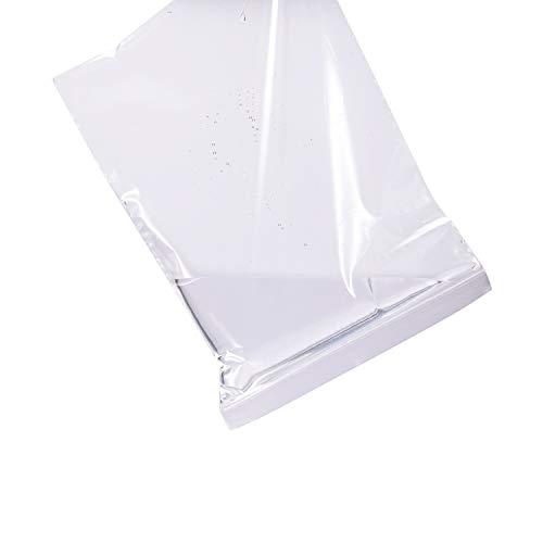 9' x 12', 2 Mil (Pack of 200) Heavy Duty Plastic Reclosable Zipper Bags, Resealable Zip Lock Food Storage Freezer Bags