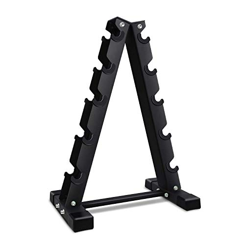 Akyen AFrame Dumbbell Rack Stand Only5 Tier Weight Rack for Dumbbells 570 Pounds Weight Capacity 2020 Version