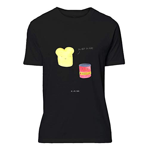 Mr. & Mrs. Panda , Größe S T-Shirt Toast & Marmelade - Farbe Schwarz