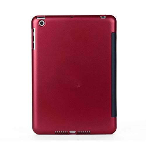 Bluetooth keyboard case Wireless Bluetooth Keyboard Case For Ipad Mini 1/2/3 Ultra Thin Slim Folio Clamshell Lightweight Abs Smart Stand Shell Cover (Color : Red)