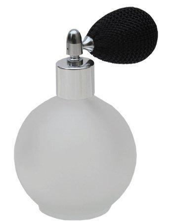 Cristal esmerilado redondo vacío rellenable perfume botella de cristal atomizador de spray,...