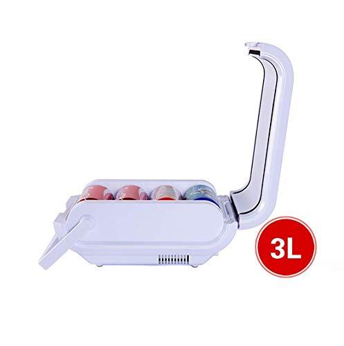 AOLI Autokühlschränke Tragbarer Gefrierschrank Tragbarer Hand-Energiespar-Tourismus 4 Dosen Trinken Bier Cola 48W 3L