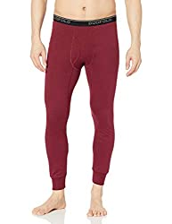 thermal long underwear bottoms dark red