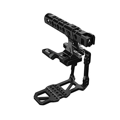 8Sinn Cage - Kit de jaula para Blackmagic BMPCC 6K Pro Camera con mango Top Pro de aluminio, color negro