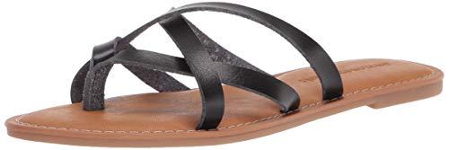 Amazon Essentials Sandalia Plana con Tiras deslizantes Slides-Sandals, Negro, 7.5