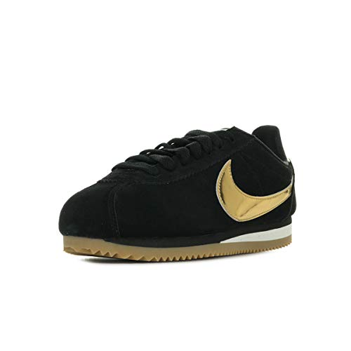 Nike Wmns Classic Cortez SE, Scarpe Running Donna, Multicolore (Black/Metallic Gold-Phantom 014), 37.5 EU