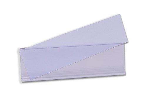 Etikettenhalter für Einstecketiketten.Selbstklebende Etikettenhalter, 100 mm x 54 mm, Transparent (50-er Pack)